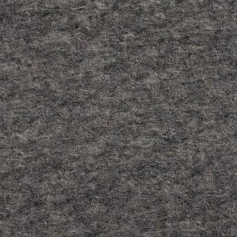 ウール&ポリエステル混×無地(グレー)×ループニット_全2色