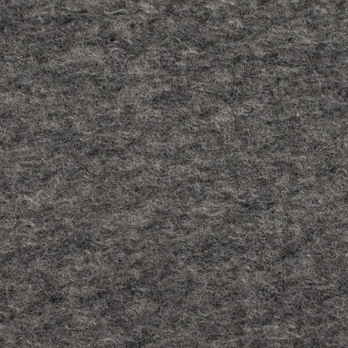ウール&ポリエステル混×無地(グレー)×ループニット_全2色 イメージ1