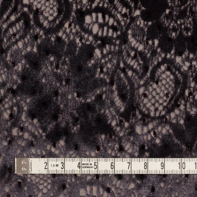 レーヨン&ポリエステル×フラワー(ダークパープル)×オパールベルベット イメージ4