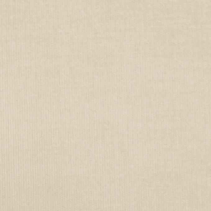 コットン&ポリウレタン×無地(アイボリー)×細コーデュロイ・ストレッチ イメージ1