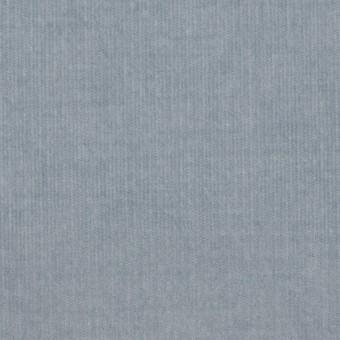 コットン&ポリウレタン×無地(スモークブルー)×細コーデュロイ・ストレッチ
