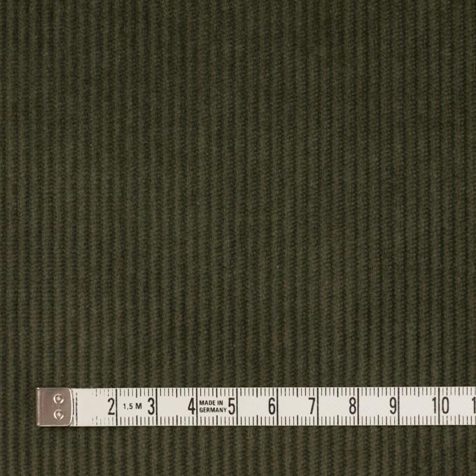 コットン&ポリウレタン×無地(カーキグリーン)×中コーデュロイ・ストレッチ イメージ4