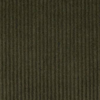 コットン&ポリウレタン×無地(カーキグリーン)×中コーデュロイ・ストレッチ