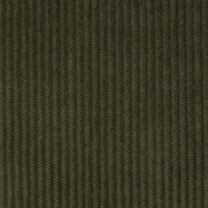 コットン&ポリウレタン×無地(カーキグリーン)×中コーデュロイ・ストレッチ イメージ1