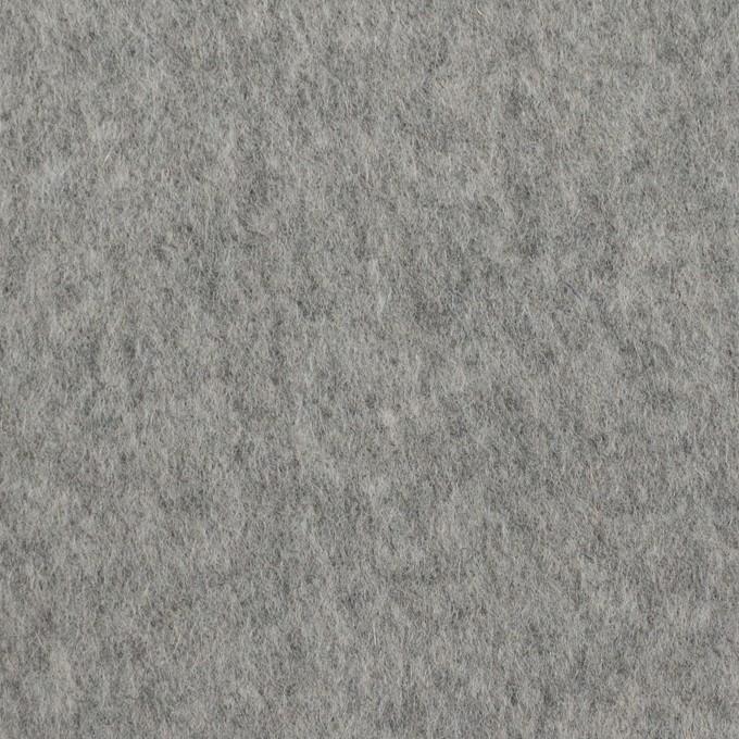 ウール&ナイロン×無地(シルバーグレー)×ビーバー イメージ1