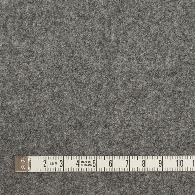 ウール×無地(グレー)×メルトン イメージ4
