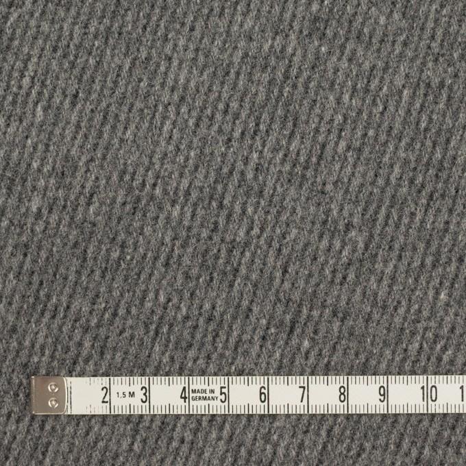 ウール×無地(チャコールグレー)×厚カルゼ_全2色 イメージ4