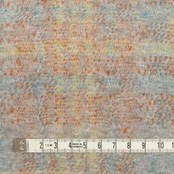 コットン&ウール×チェック(ライトグレー、オレンジ&レモン)×ジャガードニット_全2色 サムネイル4
