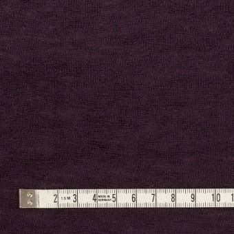 ウール×無地(ダークパープル)×フライスニット サムネイル4