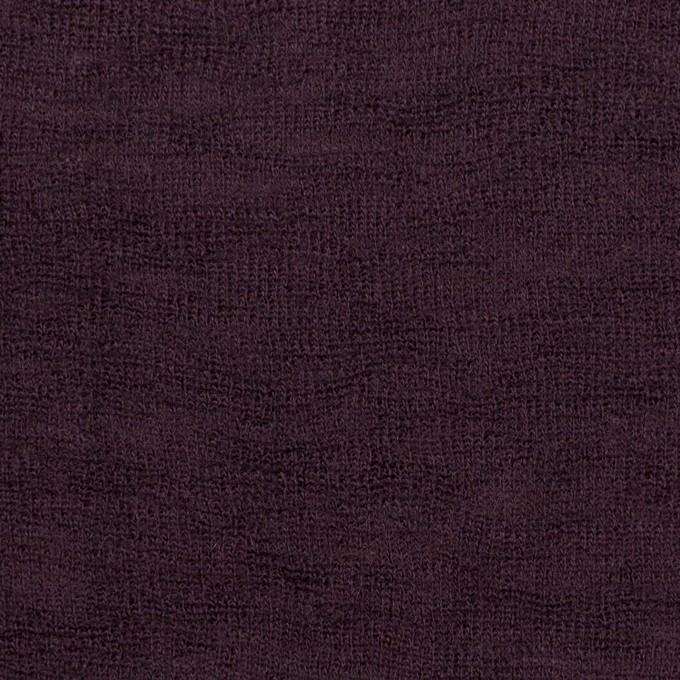 ウール×無地(ダークパープル)×フライスニット イメージ1
