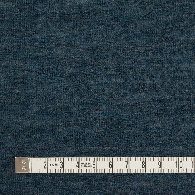 ウール&ナイロン×無地(バルビゾンブルー)×フライスニット イメージ4