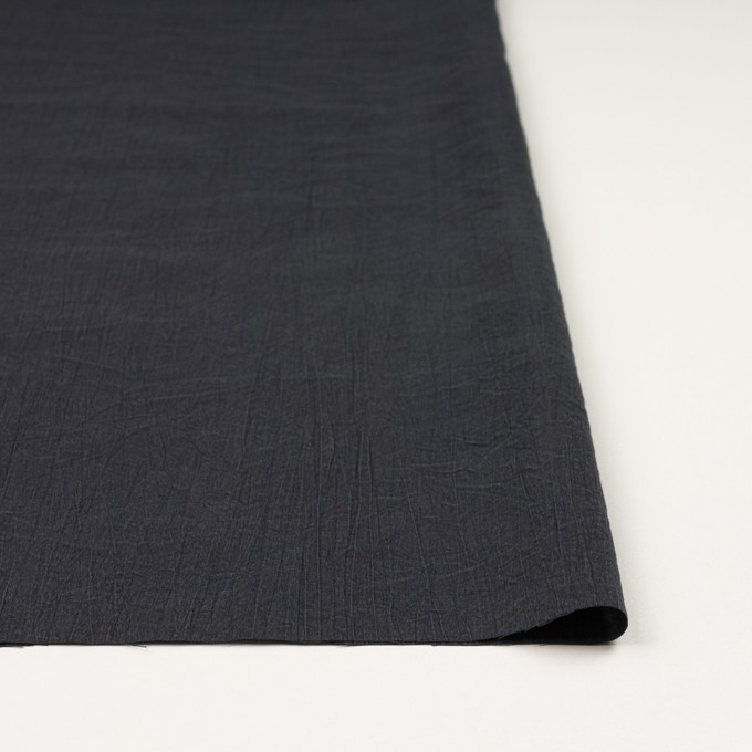 シルク&ナイロン×無地(チャコールグレー)×ポプリンワッシャー イメージ3