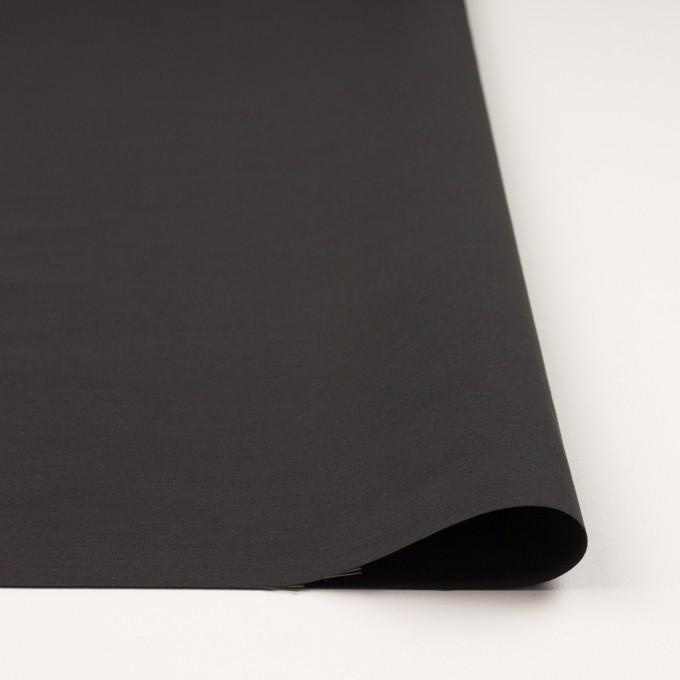 コットン&ナイロン×無地(チャコール)×タッサーポプリン_イタリア製 イメージ3