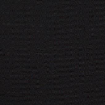 ポリエステル&ポリウレタン×無地(ブラック)×サージストレッチ