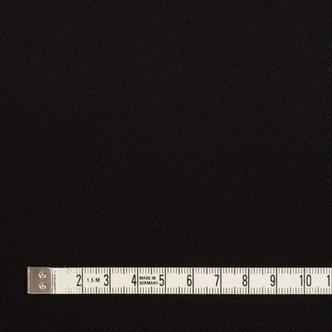 ポリエステル&トリアセテート×無地(ブラック)×バックサテンジョーゼット イメージ4