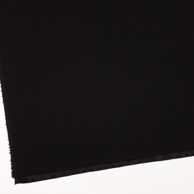 ポリエステル&アセテート×無地(ブラック)×バックサテンジョーゼット イメージ2
