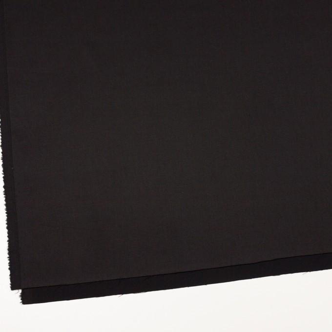 ビスコース&ナイロン混×無地(ブラック)×サージストレッチ_イタリア製 イメージ2