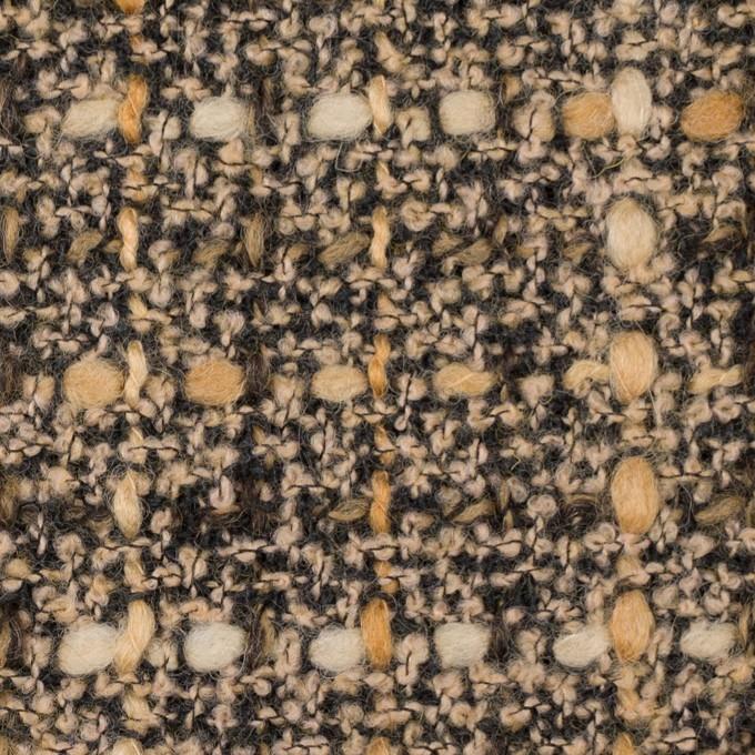 ウール&ポリエステル混×ミックス(モカ)×ファンシーツイード_イタリア製 イメージ1