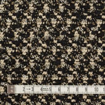 ウール&ポリエステル混×ミックス(クリーム&ブラック)×ファンシーツイード_イタリア製 サムネイル4
