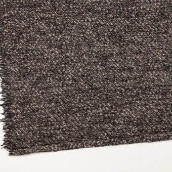 ウール&アクリル混×ミックス(ブラウン&ブラック)×ファンシーツイード_イタリア製 サムネイル2