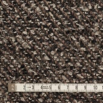 ウール&アクリル混×ミックス(ブラウン&ブラック)×ファンシーツイード_イタリア製 サムネイル4