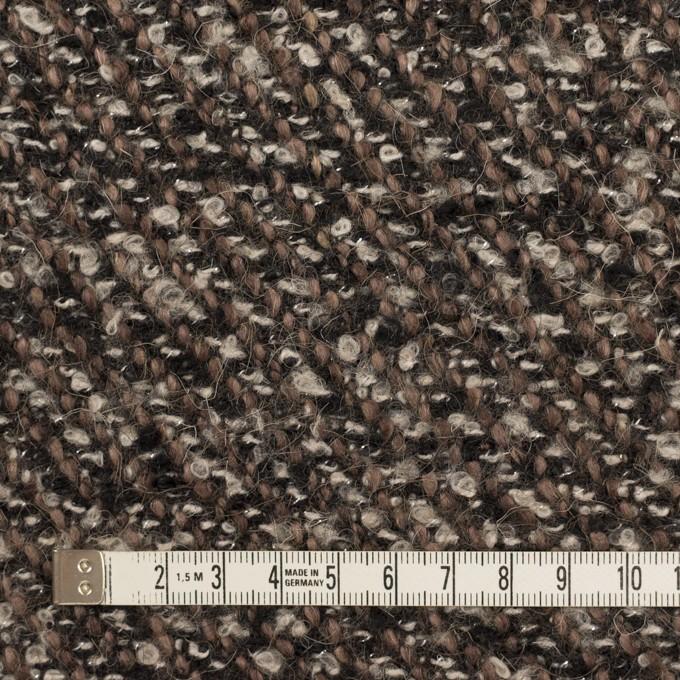 ウール&アクリル混×ミックス(ブラウン&ブラック)×ファンシーツイード_イタリア製 イメージ4