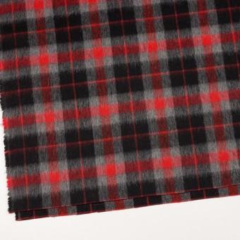 ウール&アルパカ混×チェック(レッド、グレー&ブラック)×かわり織_全2色 サムネイル2