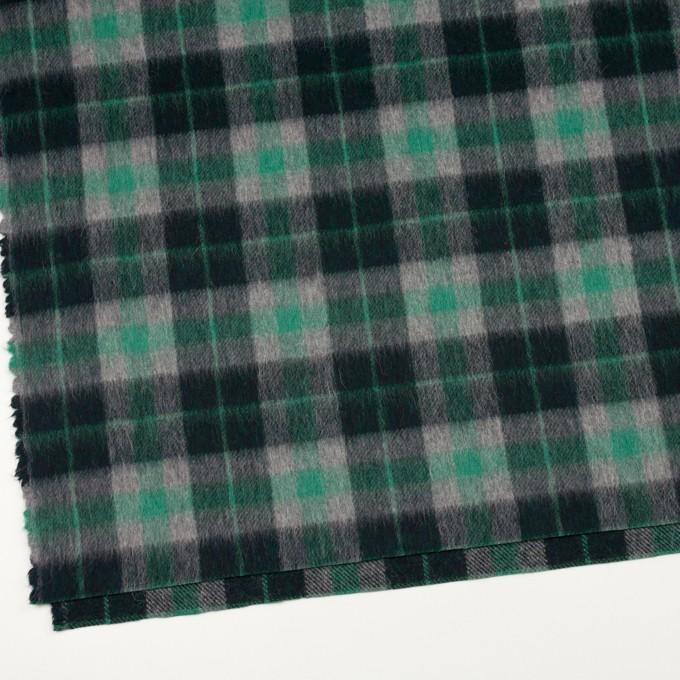 ウール&アルパカ混×チェック(グリーン、グレー&ブラック)×かわり織_全2色 イメージ2