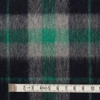 ウール&アルパカ混×チェック(グリーン、グレー&ブラック)×かわり織_全2色 サムネイル4