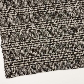 ウール&ポリウレタン×チェック(キナリ&ブラック)×ファンシーツイード_シャーリング サムネイル2