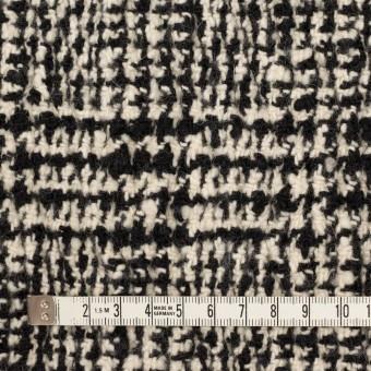ウール&ポリウレタン×チェック(キナリ&ブラック)×ファンシーツイード_シャーリング サムネイル4