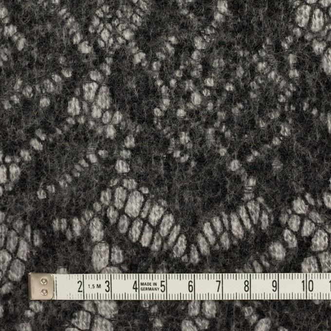 ウール&アクリル混×フラワー(ライトグレー&チャコール)×メッシュニット&レース イメージ4