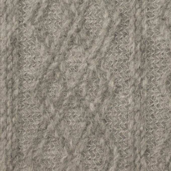 ウール&ナイロン×ダイヤ(グレー)×ジャガードニット イメージ1