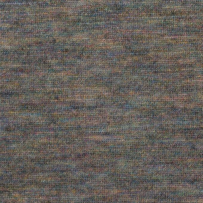 ウール×ミックス(スチールグレー)×天竺ニット イメージ1