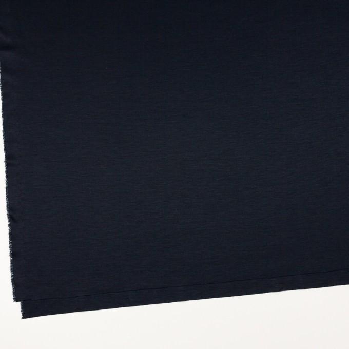リヨセル&シルク×無地(ダークネイビー)×スムースニット イメージ2