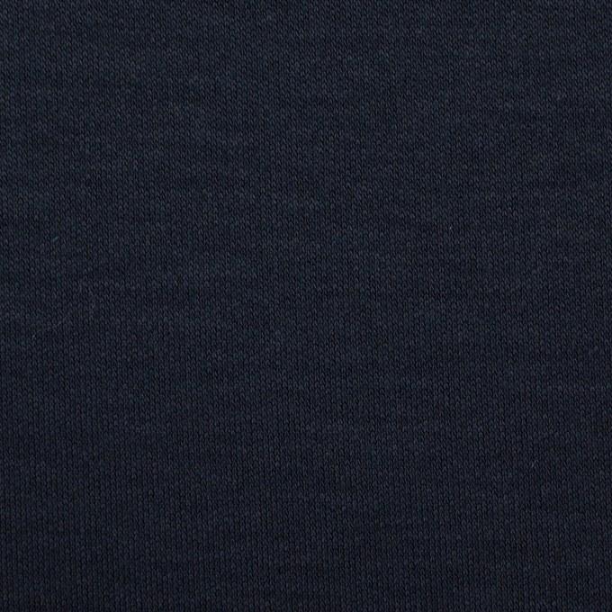 リヨセル&シルク×無地(ダークネイビー)×スムースニット イメージ1