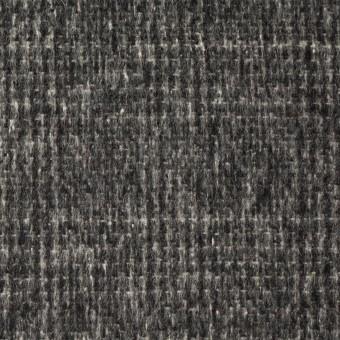 ウール×チェック(チャコールグレー)×かわり織_イタリア製