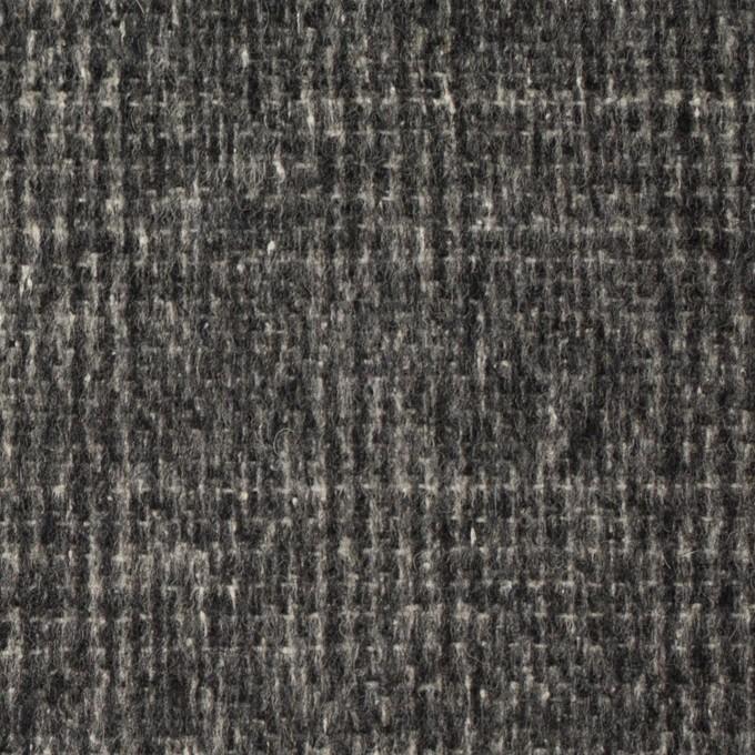 ウール×チェック(チャコールグレー)×かわり織_イタリア製 イメージ1