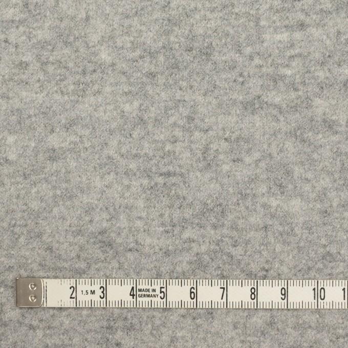 ウール&ナイロン×無地(ライトグレー)×圧縮ニット イメージ4