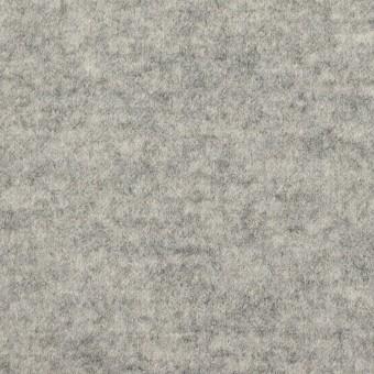 ウール&ナイロン×無地(ライトグレー)×圧縮ニット