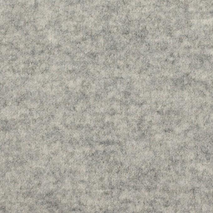 ウール&ナイロン×無地(ライトグレー)×圧縮ニット イメージ1