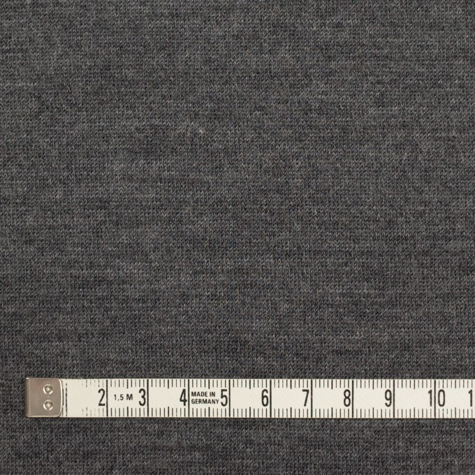 ウール&アクリル×無地(チャコールグレー)×天竺ニット イメージ4