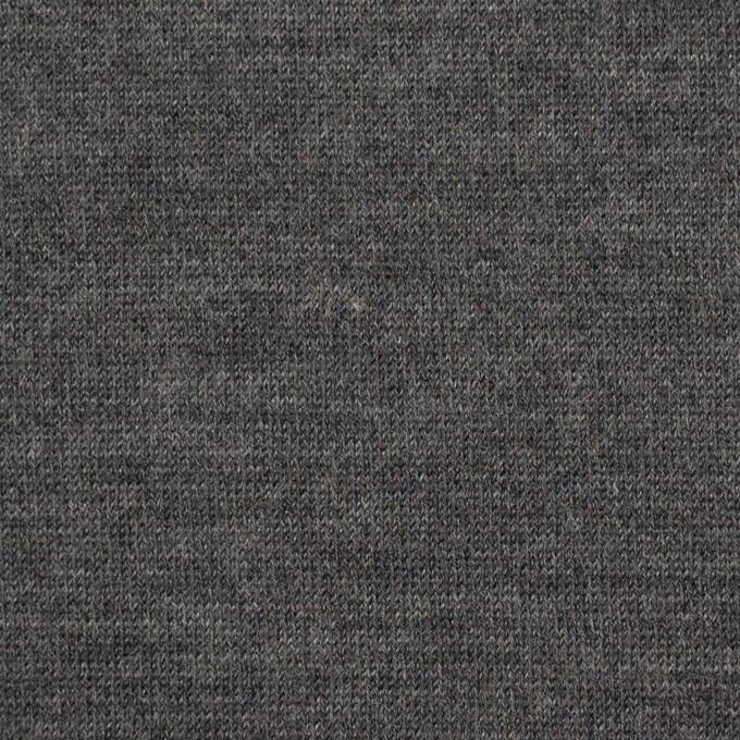 ウール&アクリル×無地(チャコールグレー)×天竺ニット イメージ1