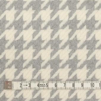 ウール×千鳥格子(アイボリー&グレー)×かわり織_全2色 サムネイル4