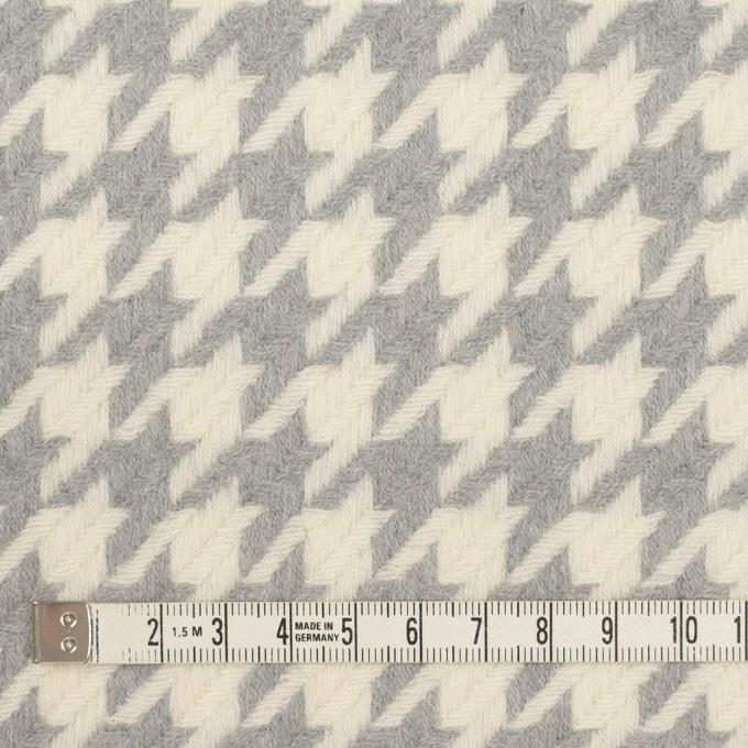 ウール×千鳥格子(アイボリー&グレー)×かわり織_全2色 イメージ4