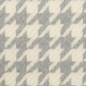 ウール×千鳥格子(アイボリー&グレー)×かわり織_全2色