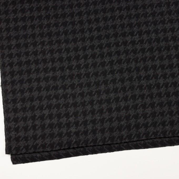 ウール×千鳥格子(チャコールグレー&ブラック)×かわり織_全2色 イメージ2