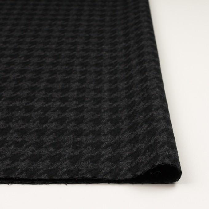 ウール×千鳥格子(チャコールグレー&ブラック)×かわり織_全2色 イメージ3
