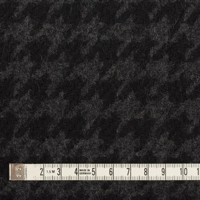 ウール×千鳥格子(チャコールグレー&ブラック)×かわり織_全2色 イメージ4