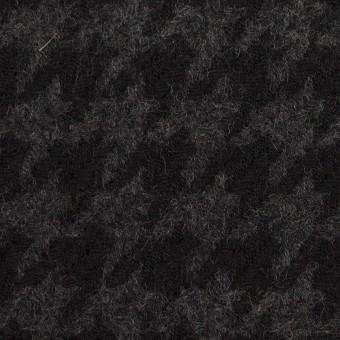 ウール×千鳥格子(チャコールグレー&ブラック)×かわり織_全2色